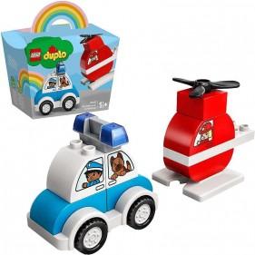 LEGO Duplo 10957 Elicottero antincendio e Auto della polizia