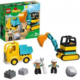 LEGO Duplo 10931 Camion e scavatrice cingolata