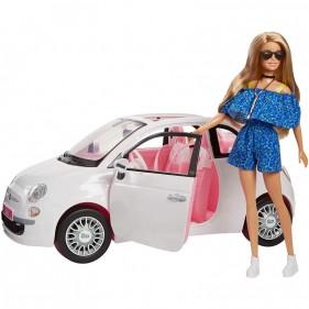 Barbie con Fiat 500