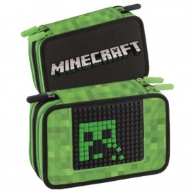 Astuccio 3 Zip Minecraft