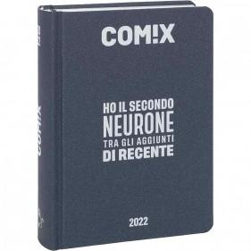 Comix - Diario 2021/2022 16 Mesi - Dark Blue scritta Argento