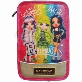 Astuccio 3 Zip Rainbow High