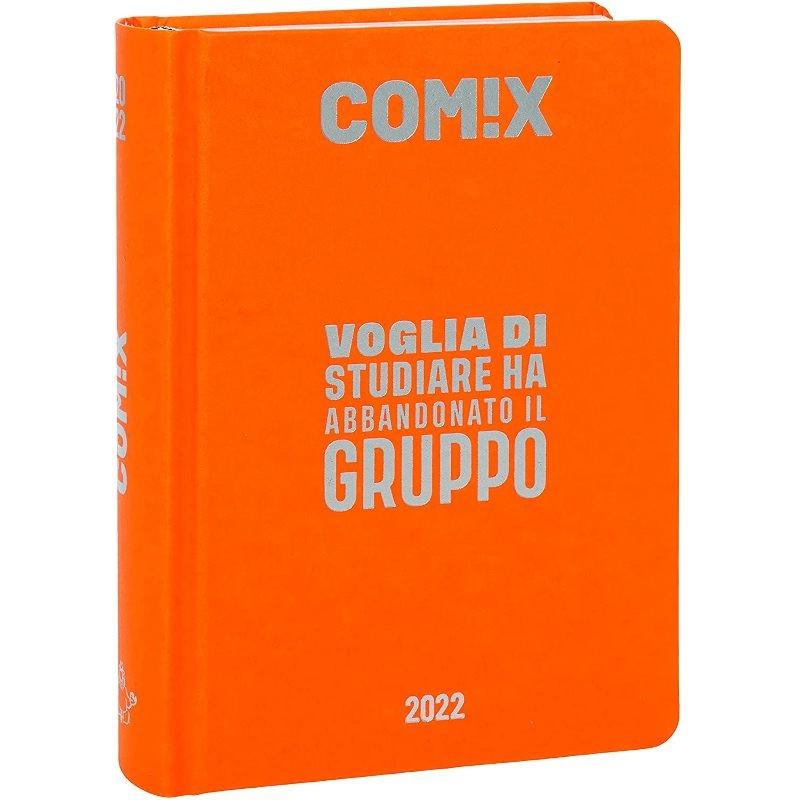 Comix - Diario 2021/2022 16 Mesi - Orange Fluo scritta Argento