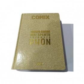 Comix Diario 2021/2022 16 Mesi - Glitter scritta Oro