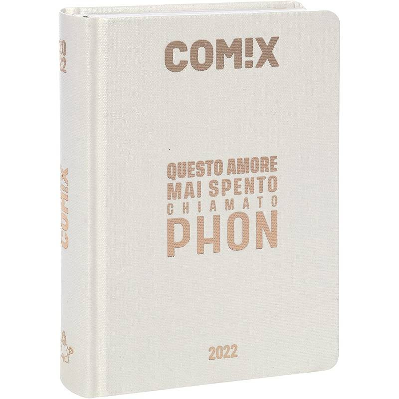 Comix - Diario 2021/2022 16 Mesi - Pearl scritta Oro Rosa - Standard