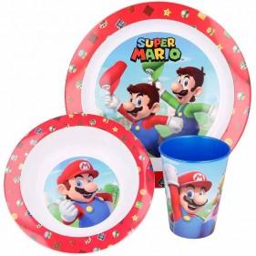 Servizio Tavola Bambini 3 Pezzi Super Mario