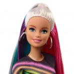 particolare Barbie Capelli Arcobaleno