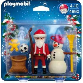 Playmobil 4890 - Babbo Natale con Pupazzo di Neve