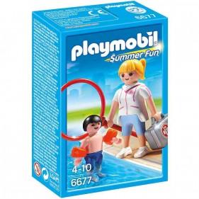 Playmobil 6677 - Bagnina con Bimbo e Braccioli