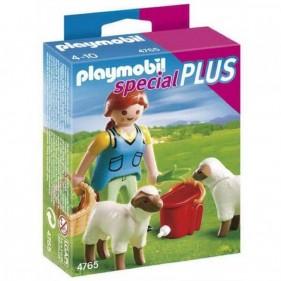 Playmobil 4765 Ragazza di campagna con pecore