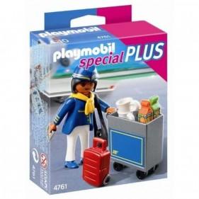 Playmobil 4761 Assistente di Volo con Carrello Portavivande