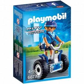 Playmobil 6877 Donna Poliziotto con Scooter