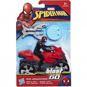 Marvel Spiderman - Veicolo Blast & Go Kid Arachnid