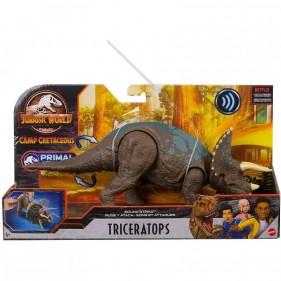 Jurassic World - Attacco Sonoro Dinosauro Triceratopo