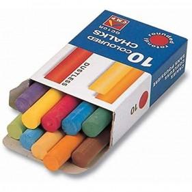 Scatola 10 gessetti tondi colorati