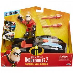 Disney Pixar Incredibili 2 Mr. Incredibile con veicolo